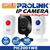 *GongXiFaCai* ♥ IPCAMERA Must Buy ♥ : PROLiNK PIC2001WE Wireless-N MegaPixel IP Camera/IPCAM / 720p / Built-in Wireless Extender / support up to 128GB microSDXC card