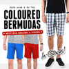 【12/12 Update】Plus Size S to 7XL Coloured Bermudas Short