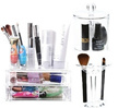 Acrylic Cosmetic Organizer with Drawers/ Brush Jar Lipstick Makeup Make up Organizer Cotton Swab Box