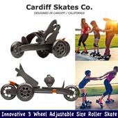 NEW Cardiff Skate Innovative 3 Wheel Adjustable Size Roller Skate S1 S2 - Best Selling in California - Ready Stock in SG