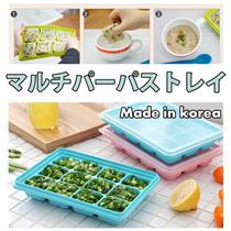 【Made in Korea】 6区12区 離乳食トレイ 1+ 1 セット/ 離乳食容器 / 食品容器 / アイスキューブトレイ/ BPA FREE / 有害物質安全容器 / 離乳食器