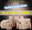 【Hot Selling】Buy 1 Tote Bag FREE 5 smaller purse handbag /  6 in 1 set shoulder bag multipurpose handbag
