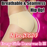 [2 FOR $12.90] Super Breathable Seamless Hip Up Underwear / Comfortable and Soft  Sexy Panties for Lady Stretchable / Padded Enhancer / Build Your S Curve Instantly