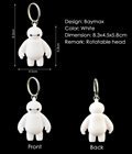 BAYMAX Key Chain. Cute Action Figure Pendant Keychain Gift.