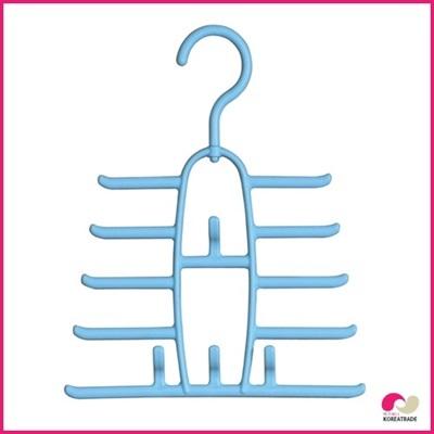 【日用品】 ハーモニーネクタイハンガー(Harmony Tie Hanger)1本組10セットブルーの画像
