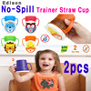 ★☆Edison No-Spill Trainer Straw Cup☆★ Straw Control Valve / Children / Infant / Water Bottle / Food