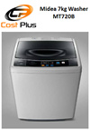 Midea Top Loading 7kg Washing Machine MT720 * LOCAL MANUFACTURER WARRANTY