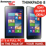 [SUPER 1DAY! DEAL!][Lenovo] ThinkPad 8 64GB / Windows 8.1 Tablet 8.3inch WUXGA 1920x1200 / IPS LED / 64GB eMMC / Windows8.1 / WIFI
