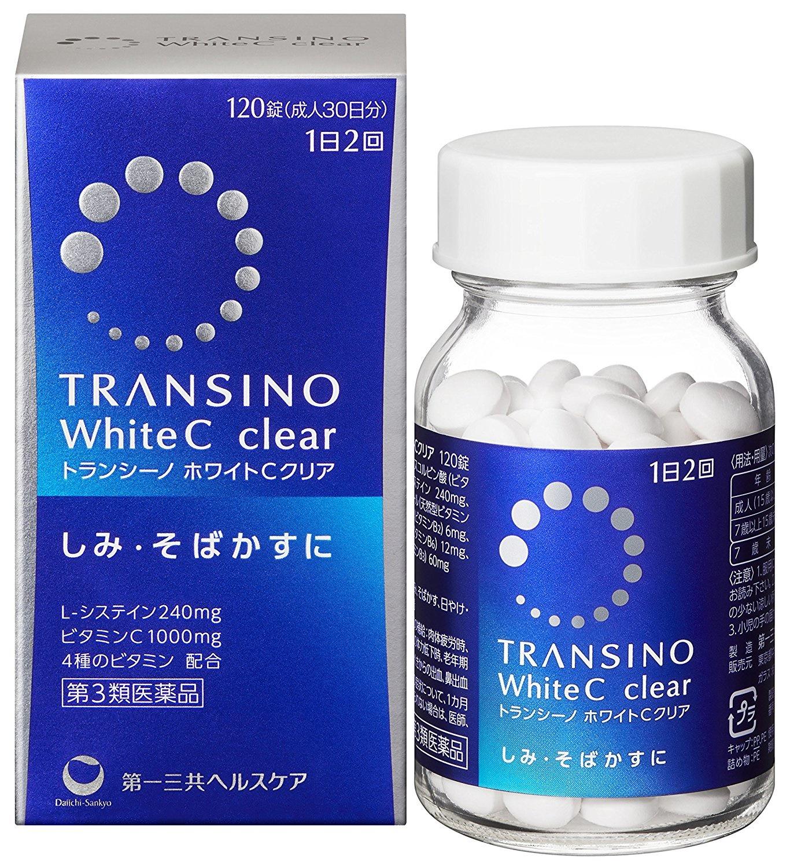 TRANSINO White C Whitening Supplement 120 tablets 第一三共 美白淡斑錠
