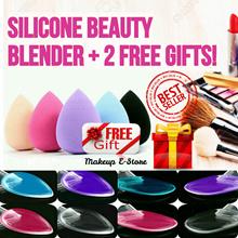 ♡FREE GIFT♡ Silicone Sponge Cosmetic Puff Makeup Blender Puff Silisponge + 2 Free Gift