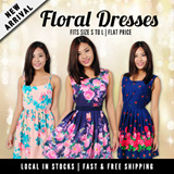 ★NEW ARRIVAL★Floral Dress★Fits S-L Size★Printed Dress★ Ladies Trendy Fashionable Office Casual Dress. Best Price! Fast Delivery!