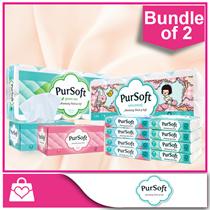 (Bundle of 2) PurSoft Bathroom Tissue / Facial Tissue Box / Facial Travel Pack (3-Ply / 4-Ply)