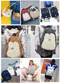 【送料無料】便利で激安 可愛い 動物 アニマルリュック お揃いです♪韓国リュック/超人気カジュアルバッグ/韓国ファッション 12タイプ選べる♪~