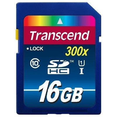 正規国内販売代理店・クロネコメル便送料無料・メカ永久保証メカサポト対応トランセンド[Transcend]16GBSDHCカドClass10UHSI300xPremiumTS16GSDU1