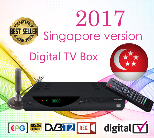 ?local? 2017 version!-DVB-T2 set top box with LCD panel/ digital set top box-local seller! Deals for only S$195 instead of S$0