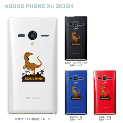 【AQUOS PHONEケース】【203SH】【Soft Bank】【カバー】【スマホケース】【クリアケース】【MOVIE PARODY】【ユニーク】【JURASSIC WORLD】 10-203sh-ca0055の画像