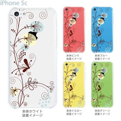 【iPhone5c】【iPhone5cケース】【iPhone5cカバー】【ケース】【カバー】【スマホケース】【クリアケース】【フラワー】【花と蝶】 22-ip5c-ca0028の画像
