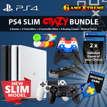 ★PS4 Slim CRAZY BUNDLED Deal★ PS4 SLIM 500GB Bundle.2 Dual Shock Wireless Controller n MANY MORE!