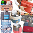 Travel Bag Travel Organizer Bag in Bag Universal adaptor Makeup pouch Underwear pouch Shoes pouch Toiletry bag Travel Essentials Accessories