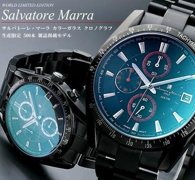 Salvatore Marra サルバトーレマーラ クロノグラフ 腕時計 メンズ カラーガラス限定モデルの画像
