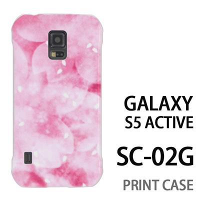 GALAXY S5 Active SC-02G 用『0312 かすみ桜 ピンク』特殊印刷ケース【 galaxy s5 active SC-02G sc02g SC02G galaxys5 ギャラクシー ギャラクシーs5 アクティブ docomo ケース プリント カバー スマホケース スマホカバー】の画像