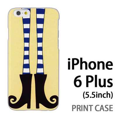 iPhone6 Plus (5.5インチ) 用『1000 細足ブーツ 黄』特殊印刷ケース【 iphone6 plus iphone アイフォン アイフォン6 プラス au docomo softbank Apple ケース プリント カバー スマホケース スマホカバー 】の画像