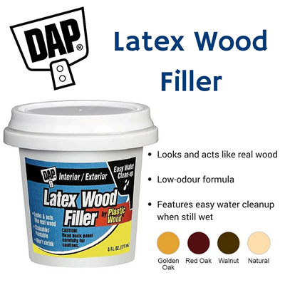 Qoo10 Dap Latex Wood Filler Pint For Interior And Exterior Use Ava Furniture Deco