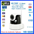 GLITZ CCTV WIRELESS WITH SD CARD MOTORIZED 360 degree ~ VIEW VIA ANDROID/IPHONE ~