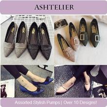 【ASHTELIER】Assorted Designs Premium Quality Stylish / Formal / Casual / Chic / Glam / Dainty / Beautiful / Pretty Pumps / Flats/ Low Heels Women Shoes