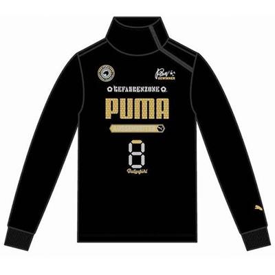 プーマ(PUMA) FD ハーフジップ スウェット 903949 01 ブラック 【ジュニア キッズ トレーニングウェア ランニング トレーナー】の画像