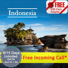 ◆ ICC◆【Indonesia SIM Card·8/15 Days 】5GB Data *+ Free Incoming call (Package A/B)❤Unlimited data (C)