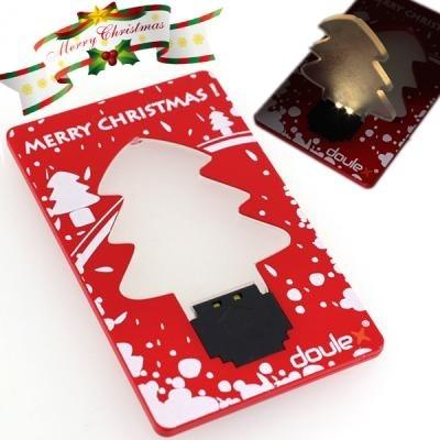 【送料無料】薄さわずか3mmの光るX masツリー!ツリーを持ち上げるとピカッ!LEDでパッ!と明るいクリスマスツリー型カード DOULEX LED Light Christmas tree Pocket Card / オーナメント イルミネーション プレゼント クリスマスコフレ 雑貨 2013の画像