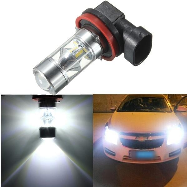 【クリックで詳細表示】H8 H11 12 SMD 2835 LED Light 60W Car Fog Driving Light Bulb
