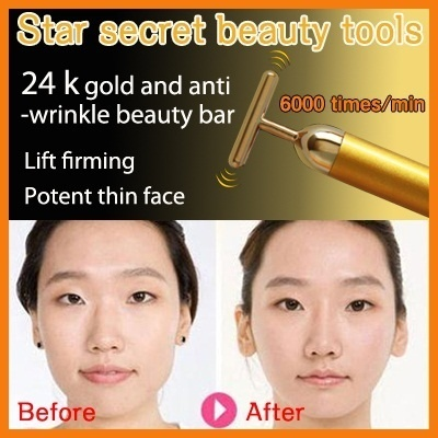 Japan Best NO.1!!!?24K GOLDEN PULSE BEAUTY T-BAR? Facial massage stick thin face electrically Deals for only S$9 instead of S$0