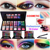 Professional 78 Color Nake Eyeshadow Palette / Makeup baked Eye Shadow/ Make up Shadows/ Cosmetic/makeup brushes/eyeshadow Brush