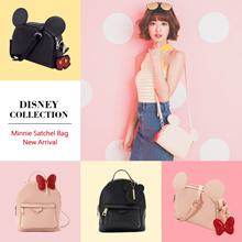 Gracegift-Disney Mickey Minnie Charm Mouse Ears Satchel Bag/Charm Backpack/Women Bags/Taiwan Fashion