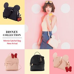 ♥New Arrival♥Gracegift-Disney Mickey Minnie Backpack/Satchel Bag/Women Bags