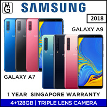 Samsung Galaxy A7 I A9 2018 / 4/6 GB RAM / 128GB ROM / Multiple Lens Local 1 Year Samsung Warranty