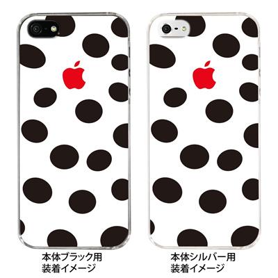 【iPhone5S】【iPhone5】【Clear Fashion】【iPhone5ケース】【カバー】【スマホケース】【クリアケース】【チェック・ボーダー・ドット】【モゥ~てん】 ip5-22-ca0021の画像