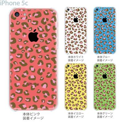 【iPhone5cケース】【iPhone5cカバー】【スマホケース】【クリア】【クリアケース】【アニマル】【ヒョウ柄】 22-ip5c-ca0036の画像