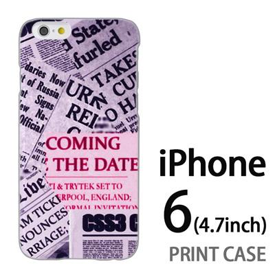 iPhone6 (4.7インチ) 用『No3 news paper』特殊印刷ケース【 iphone6 iphone アイフォン アイフォン6 au docomo softbank Apple ケース プリント カバー スマホケース スマホカバー 】の画像