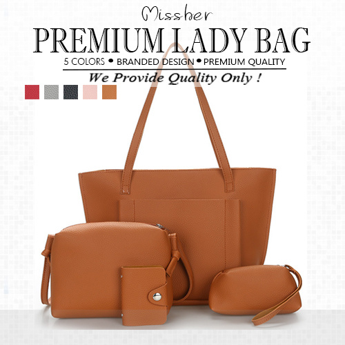 ?FREE QXPRESSPremium Quality 4 in 1 Tote Bag/Lady Bag/Working Bag/Big Bag  LB-CC09N