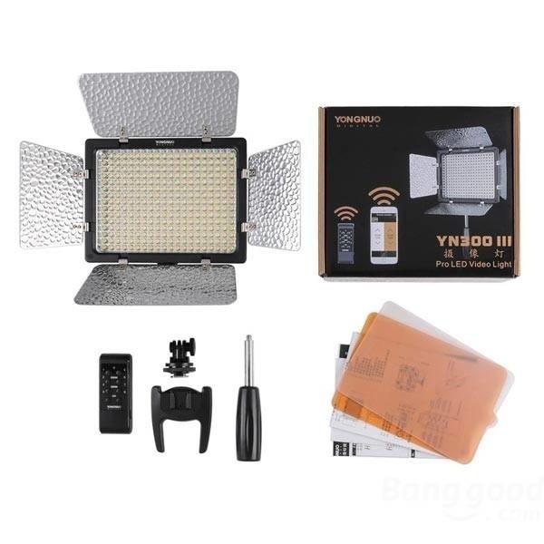 【クリックで詳細表示】Yongnuo YN300 III 5500K CRI95+ Pro LED Video Light For Nikon Canon Camcoder