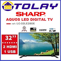 █ $271 WITH COUPON █ SHARP LC-32LE280X 32IN DVB-T2 FULL HD LED TV
