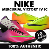 NIKE MERCURIAL VICTORY IV IC FUTSAL INDOOR COURT FOOTBALL SOCCER SHOES BOOTS ELASTICO BOMBA CTR 360 LIBRETTO TIEMPO NATURAL