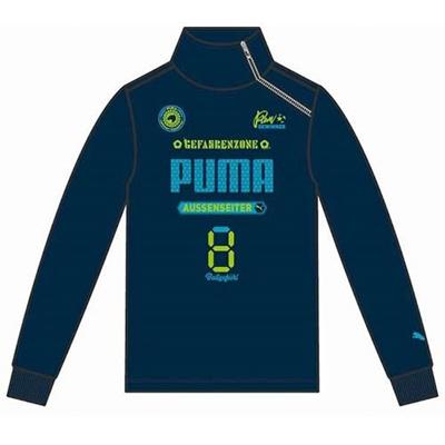 プーマ(PUMA) FD ハーフジップ スウェット 903949 02 マジョリカ ブルー 【ジュニア キッズ トレーニングウェア ランニング トレーナー】の画像