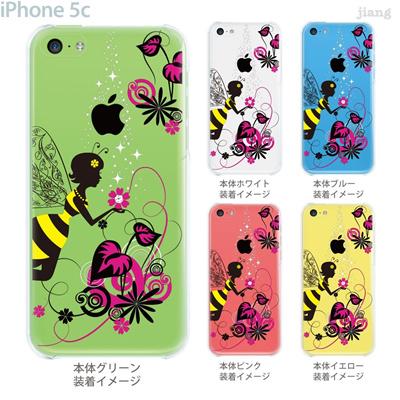 【iPhone5c】【iPhone5c ケース】【iPhone5c カバー】【ケース】【カバー】【スマホケース】【クリアケース】【クリアーアーツ】【Clear Arts】【花と妖精】【天使】【フェアリー】 01-ip5c-zec018の画像