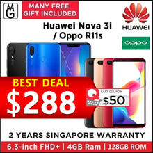 Huawei nova 3i  4/128GB 2 Years Warranty| honor 8X 4/128GB  1 Years Warranty.