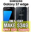 [MAKE $349!] SAMSUNG S7 edge Unlocked 32GB[Refurbish = grade S] / Samsung