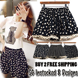 【SG Delivery】$9.90 InStocked Lace Short Skirt 8 Design With InnerPants Safty Buy 2 Free Shipping limitted offer